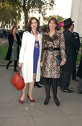 Left to right, sisters the HON.FLORA RYCROFT and SAMANTHA CAMERON at the wedding of Clementine Hambro to Orlando Fraser at St.Margarets Westminster Abbey, London on 3rd November 2006.<br />