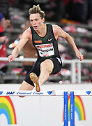 Karsten Warholm (NOR) wins the 400m hurdles in 47.85 during the Bauhaus-Galan in a IAAF Diamond League meet at Stockholm Stadium in Stockholm, Sweden on Thursday, May 30, 2019. (Jiro Mochizuki/Image of Sport)