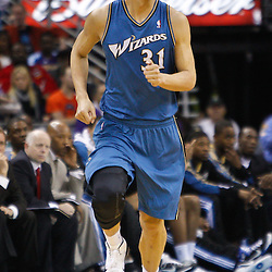February 1, 2011; New Orleans, LA, USA; Washington Wizards power forward Yi Jianlian (31) against the New Orleans Hornets during the second quarter at the New Orleans Arena.   Mandatory Credit: Derick E. Hingle