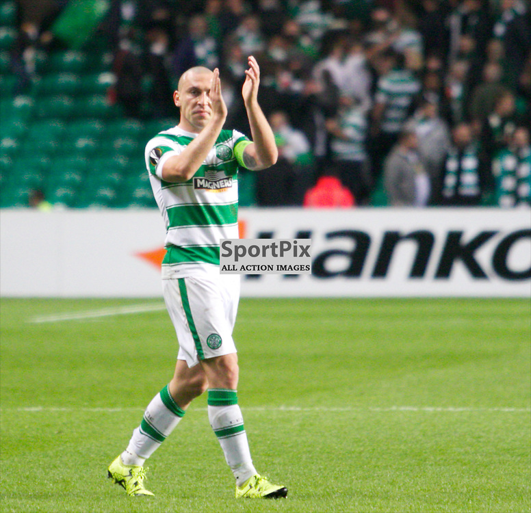 Celtic's Scott Brown at the end of the Glasgow Celtic FC v Fenerbahçe S.K Europa League Group A 1st October 2015 ©Edward Linton | SportPix.org.uk