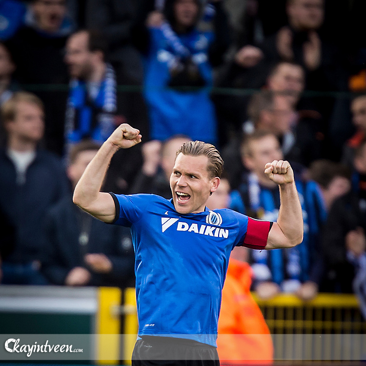 BRUGGE - Club Brugge - Zulte Waregem , Voetbal , Seizoen 2016/2017 , Jupiler Pro League Belgie Play-off 1 , Jan Breydel Stadion , 01-05-2017 , Club Brugge speler Ruud Vormer is blij met de overwinning