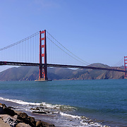 The Golden Gate bridge is seen in the background of Crissy Field in San Francisco, California on March 23, 2014. (AP Photo/Alex Menendez)