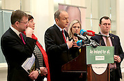 17/02/2016  Micheal Martin speaking at the Hotel Meyrick in Galway on Wednesday during the launch of the Fianna Faill plan for rural Ireland. Included in the photograph are Galway West Fianna Fail General Election candidates Eamon O Cuiv TD and Cllr Mary Hoade,  Cllr Lisa Chambers, General Election candidate in Mayo, and Galway West candidate Cllr John Connolly  Photograph: Andrew Downes