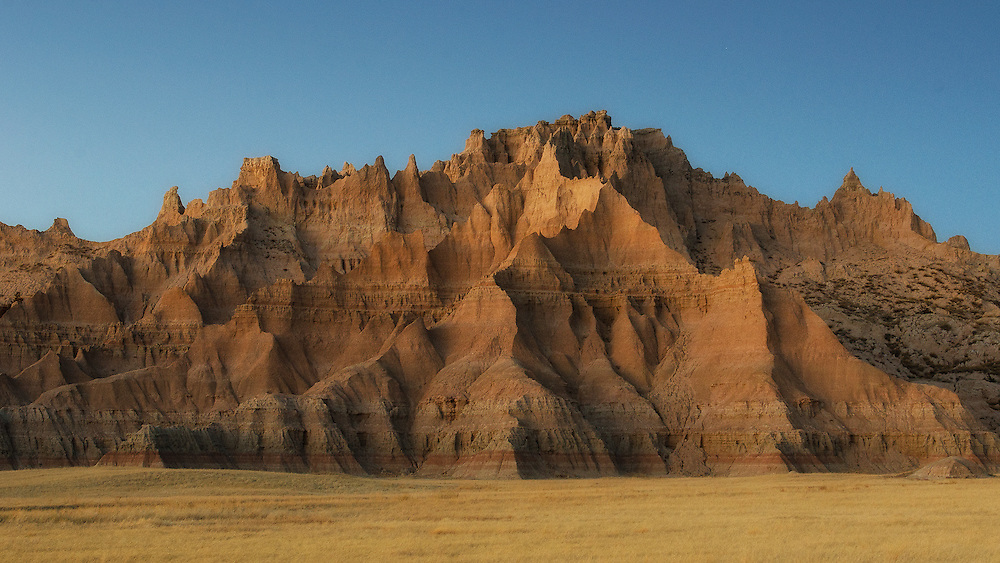 This clay structure is across the Ben Reifel Center at the Badlands National Park, South Dakota