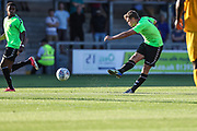 Forest Green Rovers Dayle Grubb(8) shoots at goal during the Pre-Season Friendly match between Torquay United and Forest Green Rovers at Plainmoor, Torquay, England on 10 July 2018. Picture by Shane Healey.