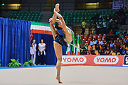 Eleonora Nobili atleta della società La Fenice di Spoleto durante la seconda prova del Campionato Italiano di Ginnastica Ritmica.<br /> La gara si è svolta a Desio il 31 ottobre 2015.