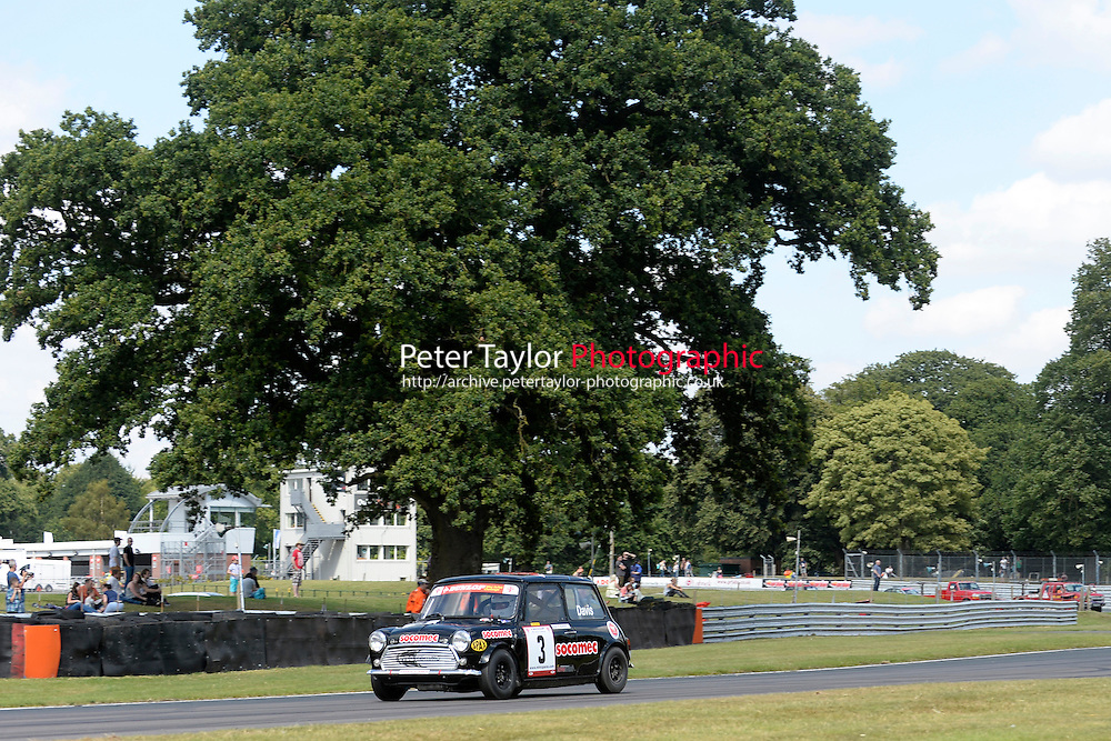 #3 Graeme Davis Mini 7 during Mini Se7en - Race 1  as part of the Mini Festival  at Oulton Park, Little Budworth, Cheshire, United Kingdom. August 08 2015. World Copyright Taylor/PSP. Copy of publication required for printed pictures.  Every used picture is fee-liable. http://archive.petertaylor-photographic.co.uk