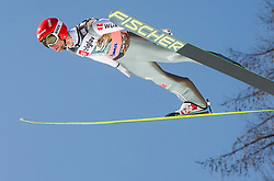 Markus Eisenbichler of Germany soars through the air during the Ski Flying Individual Qualification at Day 1 of FIS World Cup Ski Jumping Final, on March 19, 2015 in Planica, Slovenia. Photo by Vid Ponikvar / Sportida