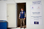 The greek dentist of Palestinian origin who carries out voluntary work in the Temporary accommodation center for immigrants in Eleonas of Athens, 11 Febraury 2016.<br /> The reception center in Eleonas of Athens, with a capacity of 720 persons, was opened in August 2015.