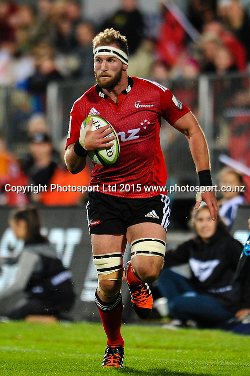 Kieran Read of the Crusaders during the Super Rugby match, Crusaders v Cheetahs, 21 March 2015 at AMI Stadium, Christchurch. Copyright Photo: John Davidson / www.Photosport.co.nz