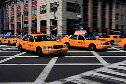 USA NEW YORK JUN10 - Taxis on the roads in midtown Manhattan, New York...jre/Photo by Jiri Rezac..© Jiri Rezac 2010
