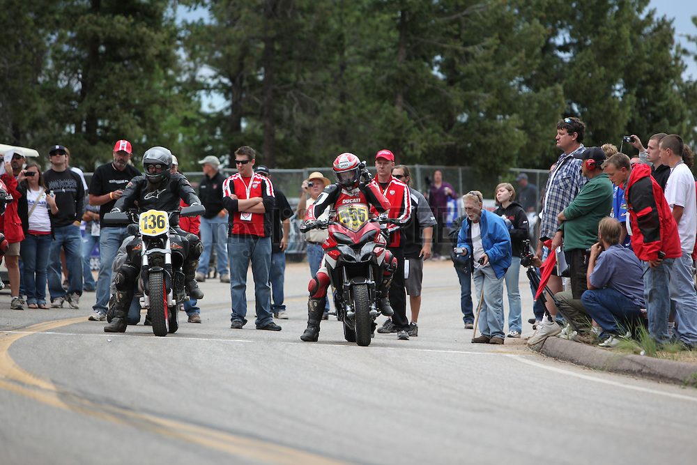 The Spider Grips Ducati Race Team at Pikes Peak in 2010. All photos taken by Andy DeVol in pitlane. Featuring racers:  Greg Tracy and Alexander Smith on the Ducati Multistrada.