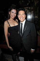 DANIELA LAVENDER and MICHAEL FEINSTEIN at a party following a gala evening of Daniela Lavender's one woman show 'A Woman Alone'  The party was held at Blakes Hotel, Roland Gardens, London SW7 on 7th April 2011.
