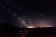 night lights and stars in Siskiyou County, CAlifornia