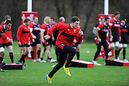 George North © in action. Wales rugby team training at the Vale, Hensol, near Cardiff in South Wales on Tuesday 13th November 2012.  pic by Andrew Orchard, Andrew Orchard sports photography,