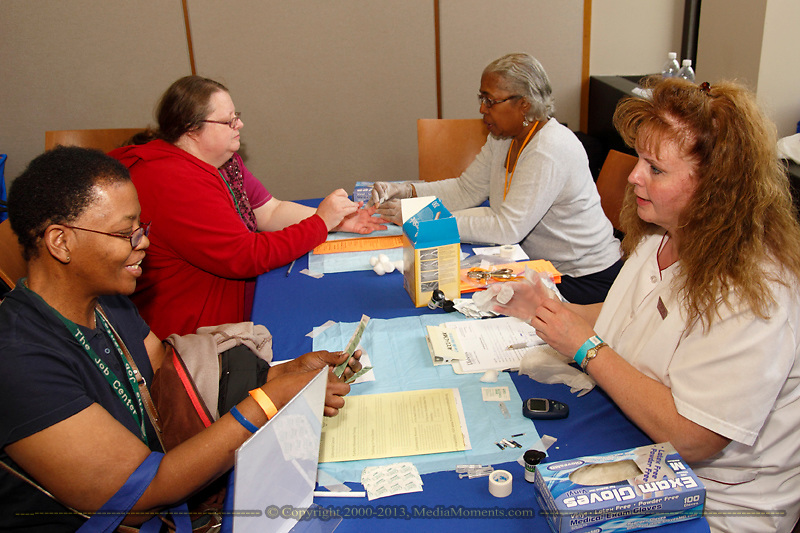 The 11th Annual Celebrating life & health free community health fair at Sinclair's Ponitz Center in downtown Dayton, Saturday, April 20, 2013. More than 60 vendors are spread over three floors providing vision, hearing, blood pressure and other screenings, health information, entertainment and lunch.