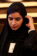 Warsaw, Poland - 2018 November 08: Souad Al Hosani President Nexus Business Services (UAE) attends panel session sustainable development while Polish - Emirati Business Forum on Raffles Europejski Hotel on November 08, 2018 in Warsaw, Poland.<br /> <br /> Adam Nurkiewicz declares that he has no rights to the image of people at the photographs of his authorship.<br /> <br /> Picture also available in RAW (NEF) or TIFF format on special request.<br /> <br /> Any editorial, commercial or promotional use requires written permission from the author of image.<br /> <br /> Image can be used in the press when the method of use and the signature does not hurt people on the picture.<br /> <br /> Mandatory credit:<br /> Photo by © Adam Nurkiewicz