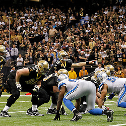 January 7, 2012; New Orleans, LA, USA; New Orleans Saints quarterback Drew Brees (9) against the Detroit Lions during the 2011 NFC wild card playoff game at the Mercedes-Benz Superdome. Mandatory Credit: Derick E. Hingle-US PRESSWIRE