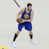 10 June 2016: Golden State Warriors center Andrew Bogut (12) is seen during the Golden State Warriors 108-97 victory over the Cleveland Cavaliers, during Game Four of the 2016 NBA Finals at the Quicken Loans Arena, Cleveland, Ohio, USA.