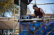 DJ Uncle R at the UCI BMX Supercross World Cup in Santiago del Estero, Argintina.