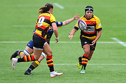 Charlie Wilcock of Worcester Valkyries competes with Laura Kapo of Richmond Women - Mandatory by-line: Nizaam Jones/JMP - 22/09/2018 - RUGBY - Sixways Stadium - Worcester, England - Worcester Valkyries v Richmond Women - Tyrrells Premier 15s