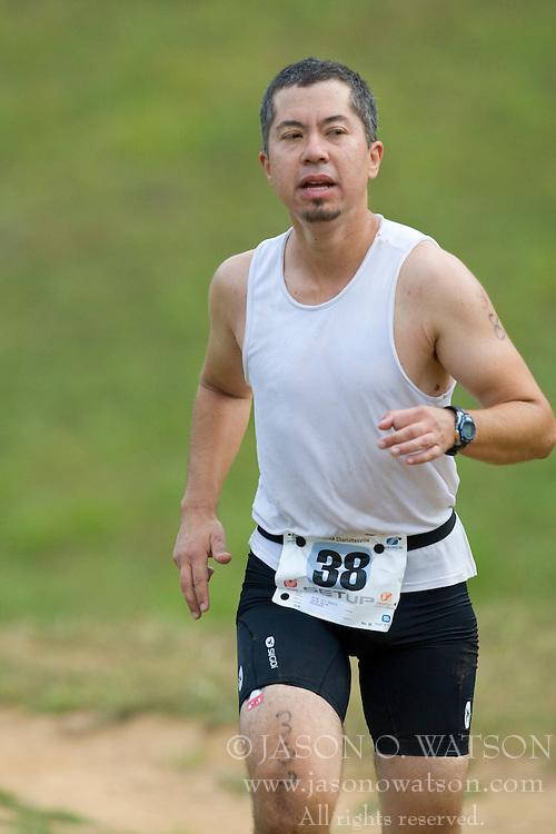 CHARLOTTESVILLE, VA - August 17, 2008 - SEAN DOIG (38) in the 2008 Charlottesville XTERRA Triathlon was held at Walnut Creek Park in Albemarle County near Charlottesville, Virginia, USA.