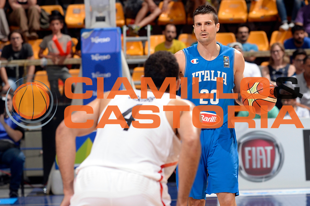 DESCRIZIONE : Bologna Nazionale Italia Uomini Imperial Basketball City Tournament Italia Canada Italy Canada<br /> GIOCATORE : Andrea Cinciarini<br /> CATEGORIA : palleggio<br /> SQUADRA : Italia Italy<br /> EVENTO : Imperial Basketball City Tournament<br /> GARA : Imperial Basketball City Tournament Italia Canada Italy Canada<br /> DATA : 26/06/2016<br /> SPORT : Pallacanestro<br /> AUTORE : Agenzia Ciamillo-Castoria/Max.Ceretti<br /> Galleria : FIP Nazionali 2016<br /> Fotonotizia : Bologna Nazionale Italia Uomini Imperial Basketball City Tournament Italia Canada Italy Canada