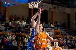 Jure Pelko of KK Helios Suns during basketball match between KK Helios Suns and KK Sencur in Playoffs of Liga Nova KBM 2017/18, on April 7, 2018 in Domzale, Slovenia. Photo by Urban Urbanc / Sportida