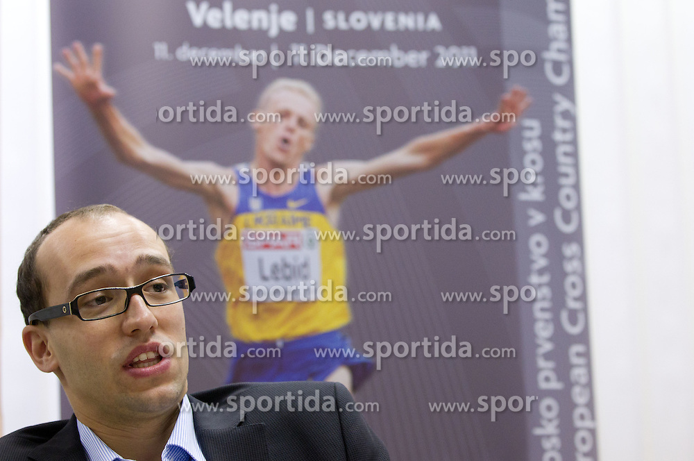Luka Steiner during press conference of Organizing committee of European Cross Country Championships Velenje 2011, on November 28, 2011 in AZS, Ljubljana, Slovenia. (Photo By Vid Ponikvar / Sportida.com)