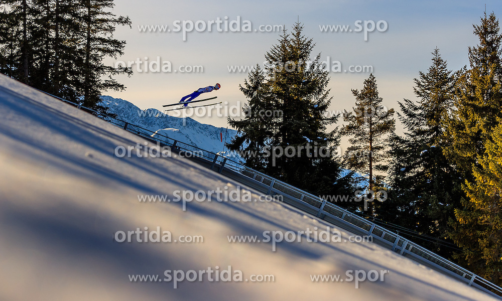 28.01.2017, Casino Arena, Seefeld, AUT, FIS Weltcup Nordische Kombination, Seefeld Triple, Skisprung, im Bild Mario Seidl (AUT) // Mario Seidl of Austria in action during his Trail Jump of Skijumping of the FIS Nordic Combined World Cup Seefeld Triple at the Casino Arena in Seefeld, Austria on 2017/01/28. EXPA Pictures © 2017, PhotoCredit: EXPA/ JFK