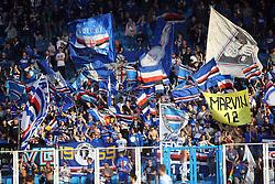 """Foto LaPresse/Filippo Rubin<br /> 03/03/2019 Ferrara (Italia)<br /> Sport Calcio<br /> Spal - Sampdoria - Campionato di calcio Serie A 2018/2019 - Stadio """"Paolo Mazza""""<br /> Nella foto: TIFOSI SAMPDORIA<br /> <br /> Photo LaPresse/Filippo Rubin<br /> March 03, 2019 Ferrara (Italy)<br /> Sport Soccer<br /> Spal vs Sampdoria - Italian Football Championship League A 2018/2019 - """"Paolo Mazza"""" Stadium <br /> In the pic: SAMPDORIA SUPPORTERS"""