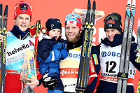 Ski , Fis Cross - Country World Cup , Presented by Viessmann<br /> Lillehammer<br /> 04.12.2016<br /> Foto: Dagfinn Limoseth , Digitalsport<br /> Johannes Hoesflot Klaebo , NOR , Martin Johnsrud Sundby , NOR  med sønnen Markus , Matti Heikkinen , FIN