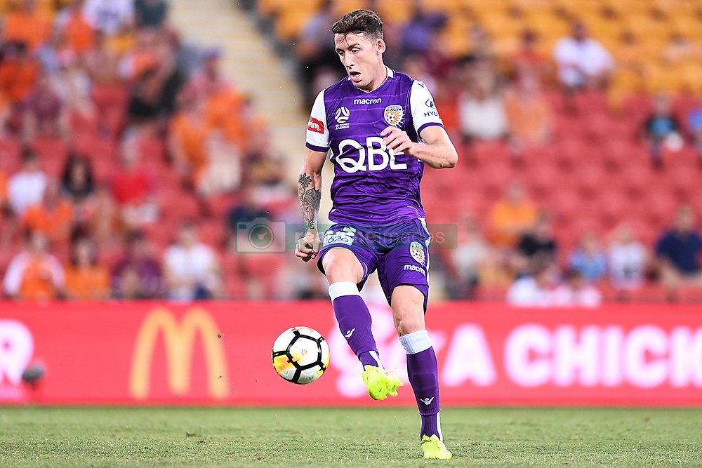 January 18, 2018 - Brisbane, QUEENSLAND, AUSTRALIA - Scott Neville of the Glory (#23) in action during the round seventeen Hyundai A-League match between the Brisbane Roar and the Perth Glory at Suncorp Stadium on January 18, 2018 in Brisbane, Australia. (Credit Image: © Albert Perez via ZUMA Wire)