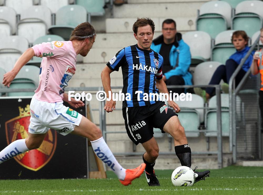 15.7.2012, Veritas stadion (Kupittaa), Turku..Veikkausliiga 2012..FC Inter Turku - JJK Jyv?skyl?..Henri Lehtonen - Inter.