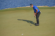 Hideki Matsuyama (JPN) sinks his putt on 11 during day 1 of the WGC Dell Match Play, at the Austin Country Club, Austin, Texas, USA. 3/27/2019.<br /> Picture: Golffile | Ken Murray<br /> <br /> <br /> All photo usage must carry mandatory copyright credit (© Golffile | Ken Murray)