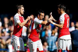 Santi Cazorla and Mesut Ozil of Arsenal - Mandatory byline: Rogan Thomson/JMP - 07966 386802 - 19/09/2015 - FOOTBALL - Stamford Bridge Stadium - London, England - Chelsea v Arsenal - Barclays Premier League.