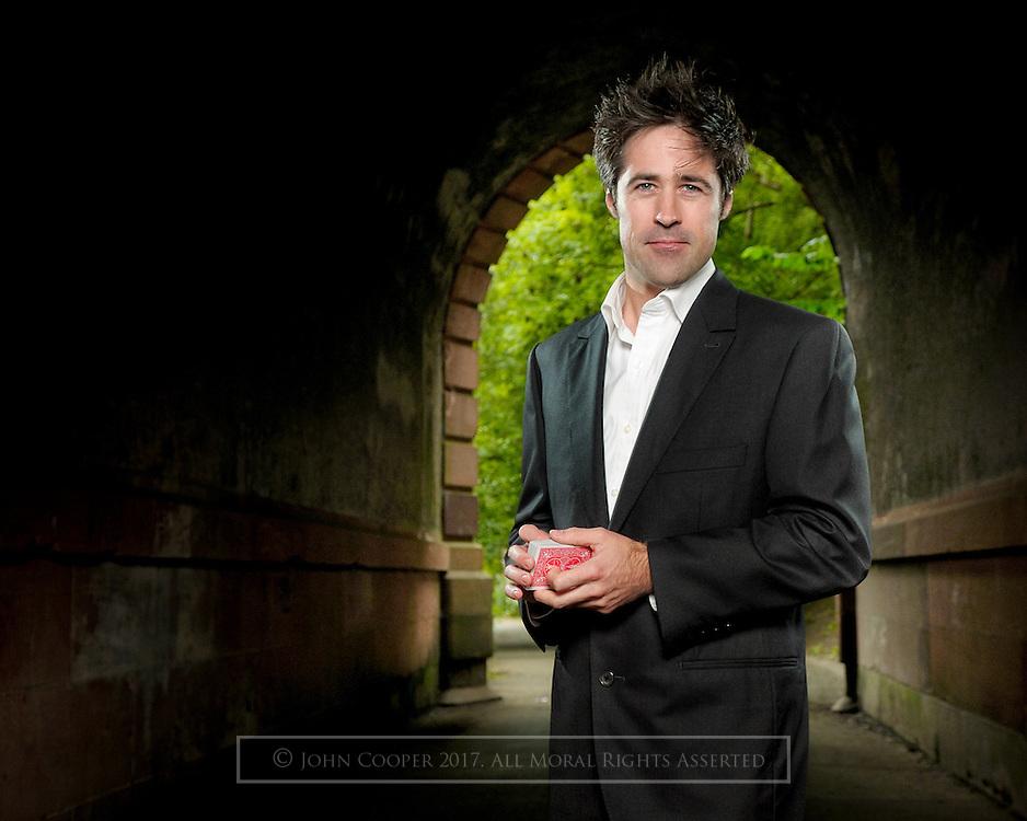 Portrait of magician, Michael Neto.