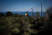 The border fench between Italy and France. Built afthe WWII by the Franch governament to stop the Italian migrantion to France. Ventimiglia, Italy. April 2017. Federico Scoppa