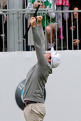 September 10, 2018 - Newtown Square, Pennsylvania, United States - Keegan Bradley reacts after winning a one-hole playoff against Justin Rose on the 18th hole to win the 2018 BMW Championship. (Credit Image: © Debby Wong/ZUMA Wire)