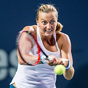 August 22, 2016, New Haven, Connecticut: <br /> Petra Kvitova of the Czech Republic in action during a match a match on Day 4 of the 2016 Connecticut Open at the Yale University Tennis Center on Monday August  22, 2016 in New Haven, Connecticut. <br /> (Photo by Billie Weiss/Connecticut Open)