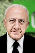 Salerno, Italia - Vincenzo De Luca, neo eletto Presidente della regione Campania ritratto nel suo quartier generale nel centro di Salerno.<br /> Ph. Roberto Salomone