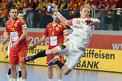 ZACHARIASSEN Anders of Denmark during handball match between National teams of Macedonia and Denmark on Day 7 in Main Round of Men's EHF EURO 2018, on January 24, 2018 in Arena Varazdin, Varazdin, Croatia. Photo by Mario Horvat / Sportida
