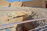 Mamshit, Negev, Israel. Mamshit is the Nabatean city of Memphis. In the Nabatean period, Mamshit was important because it sat on the route from the Idumean Mountains to the Arava, continued on to Beersheva or to Hebron and Jerusalem. The city covers ten acres and is the smallest but best restored city in the Negev Desert. The once-luxurious houses have unusual architecture not found in any other Nabatean city.