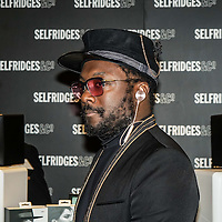 WILL.I.AM launches new headphones in Selfridges new technology hall,London,UK