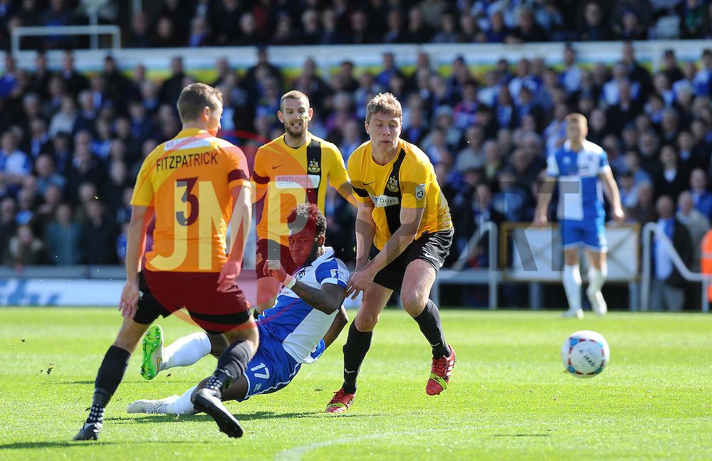 Bristol Rovers' Ellis Harrison gets a shot away - Photo mandatory by-line: Neil Brookman/JMP - Mobile: 07966 386802 - 11/04/2015 - SPORT - Football - Bristol - Memorial Stadium - Bristol Rovers v Southport - Vanarama Football Conference