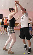 (center couple) Claire Hinde, from Kettering dances with Austin Boucher, from Kettering at a rehearsal for the year-end recital at Terre's Dance Workshop in Kettering, Tuesday, May 8th.