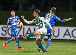 24.10.2014, Sportplatz FAC, Wien, AUT, 2. FBL, Floridsdorfer AC vs SV Mattersburg, 16. Runde, im Bild Andreas Bauer (Floridsorfer AC) , Alejandro Velasco Farinas (SV Mattersburg) und Martin Stehlik (Floridsorfer AC) // during Austrian Football Second Bundesliga Match, 16th round, between Floridsdorfer AC and SV Mattersburg at the Sportplatz FAC, Vienna, Austria on 2014/10/24. EXPA Pictures © 2014, PhotoCredit: EXPA/ Alexander Forst