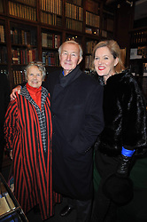 Left to right, PRISCILLA CARLUCCIO and SIR TERENCE & LADY CONRAN at a party to celebrate the publication of Maryam Sach's novel 'Without Saying Goodbye' held at Sotheran's Bookshop, 2 Sackville Street, London on 10th November 2009.