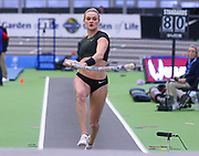 Katie Nageotte competes in the pole vault during the USA Indoor Track and Field Championships in Staten Island, NY, Sunday, Feb 24, 2019. (Rich Graessle/Image of Sport)