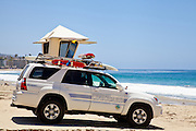 Lifeguard Truck on Main Beach in Laguna Beach California